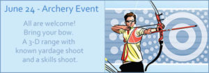 archery event - june 24 - cheerful valley campground