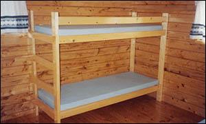 bunk beds in rental cabin