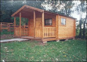 exterior of rental cabin