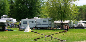 Trailers on Camp Sites
