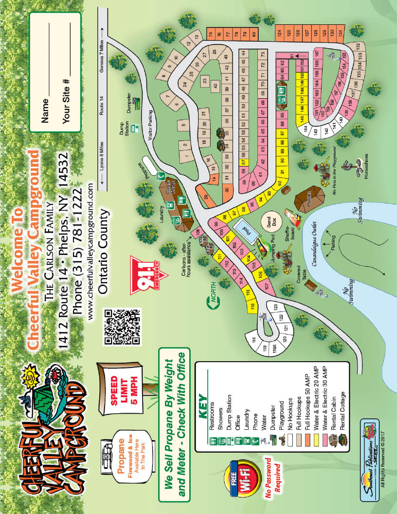 phelps ny campground map for cheerful valley in ny
